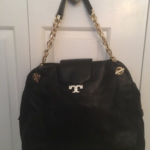 Tory Burch Authentic Sammy Satchel in Black